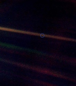 Earth seen from 6.1 billion kilometres (3.7 billion miles)