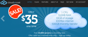 Cloud at Cost Main Page Screenshot