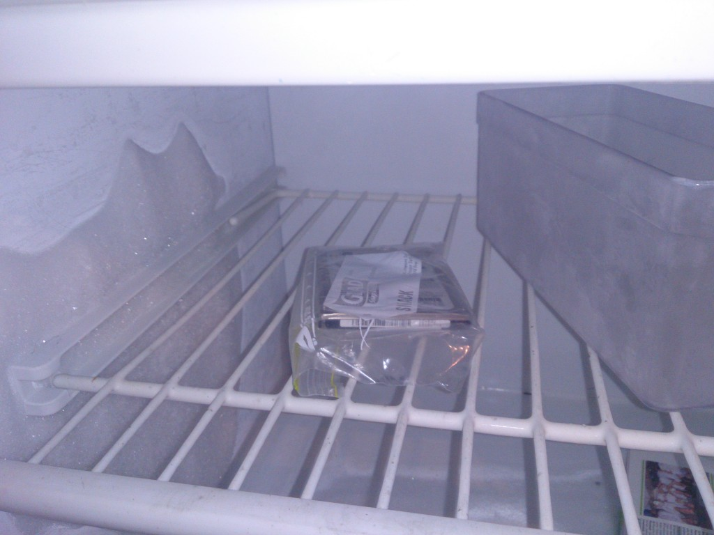 Hard drive in freezer overnight