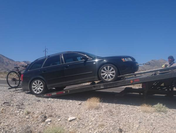 My Wagon with a Blown Engine being Towed out of Death Valley