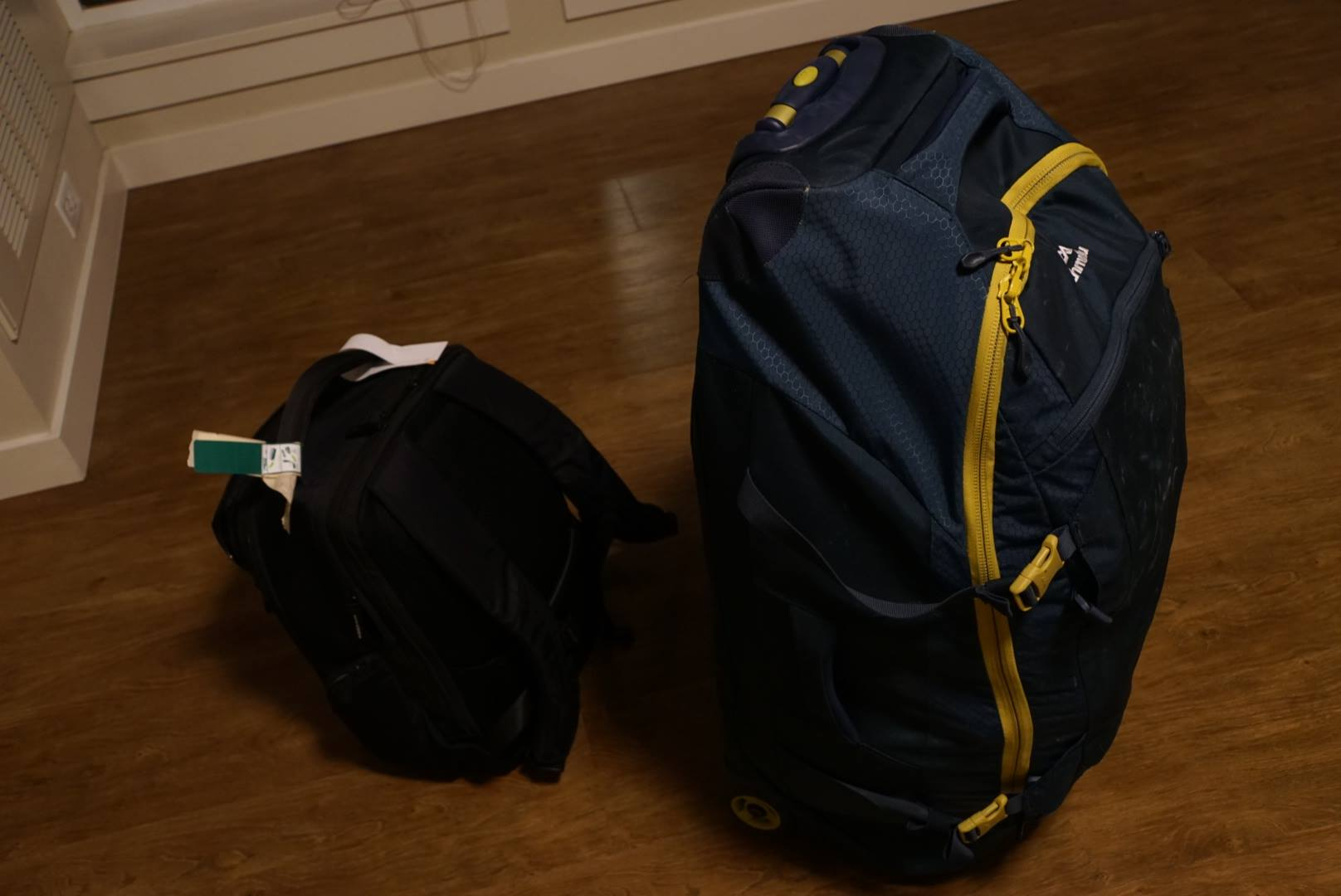 Two bags that I lived out of for ten months
