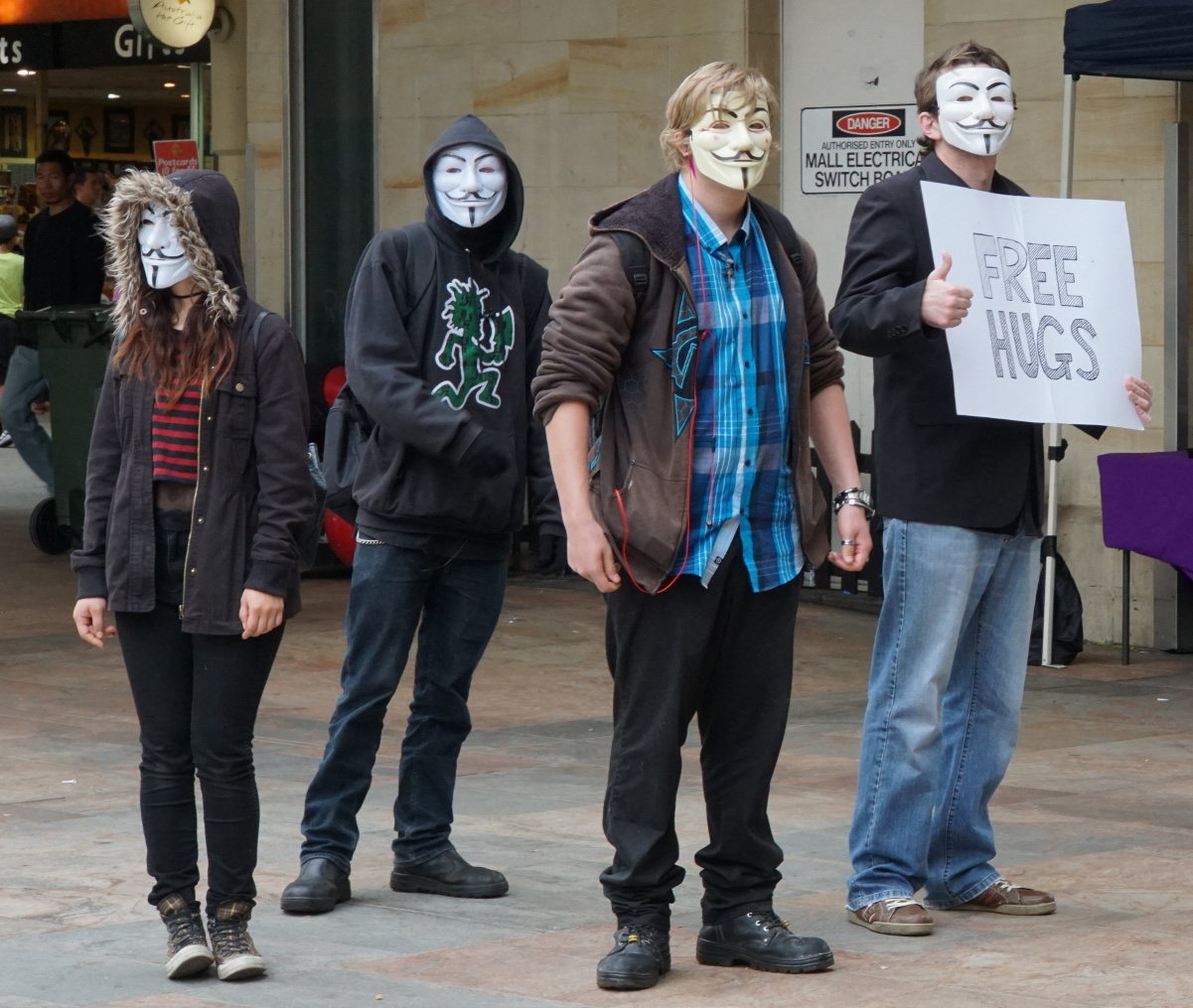 Anonymous Activists in Perth, Australia