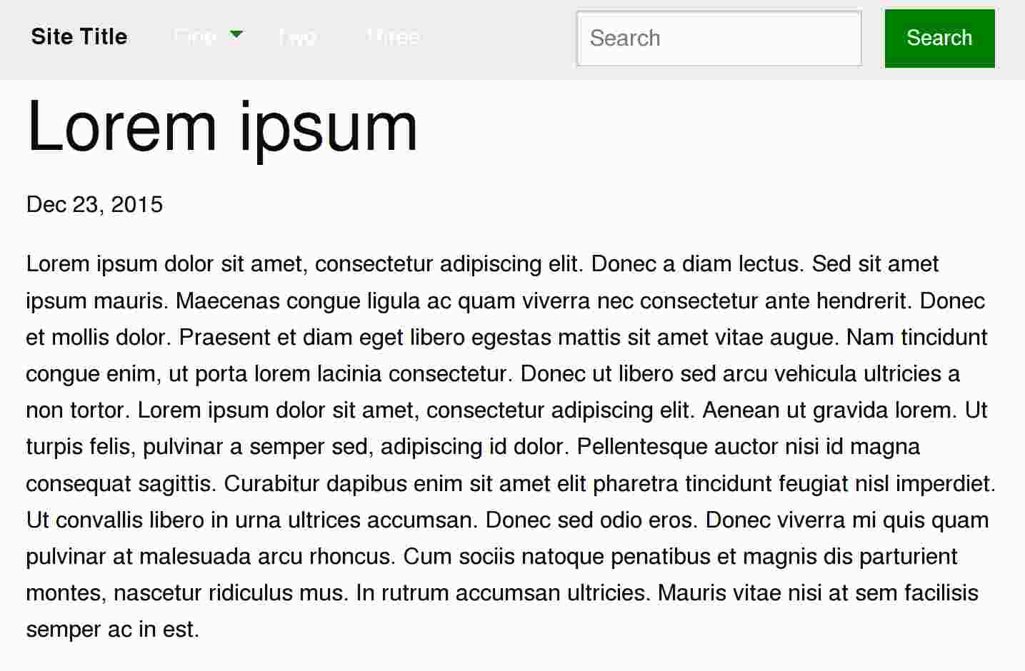 Lorem Ipsum Post in Jekyll + Foundation Environment