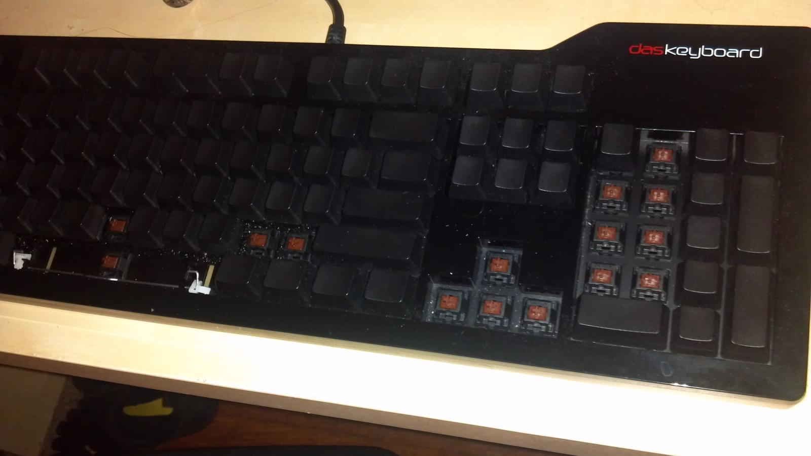 Das Keyboard with some Keycaps Removed