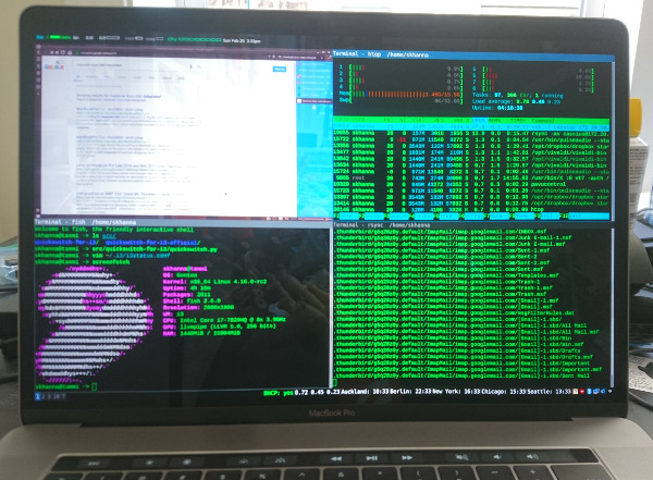 MacBook Pro 14,3 Running Gentoo Linux