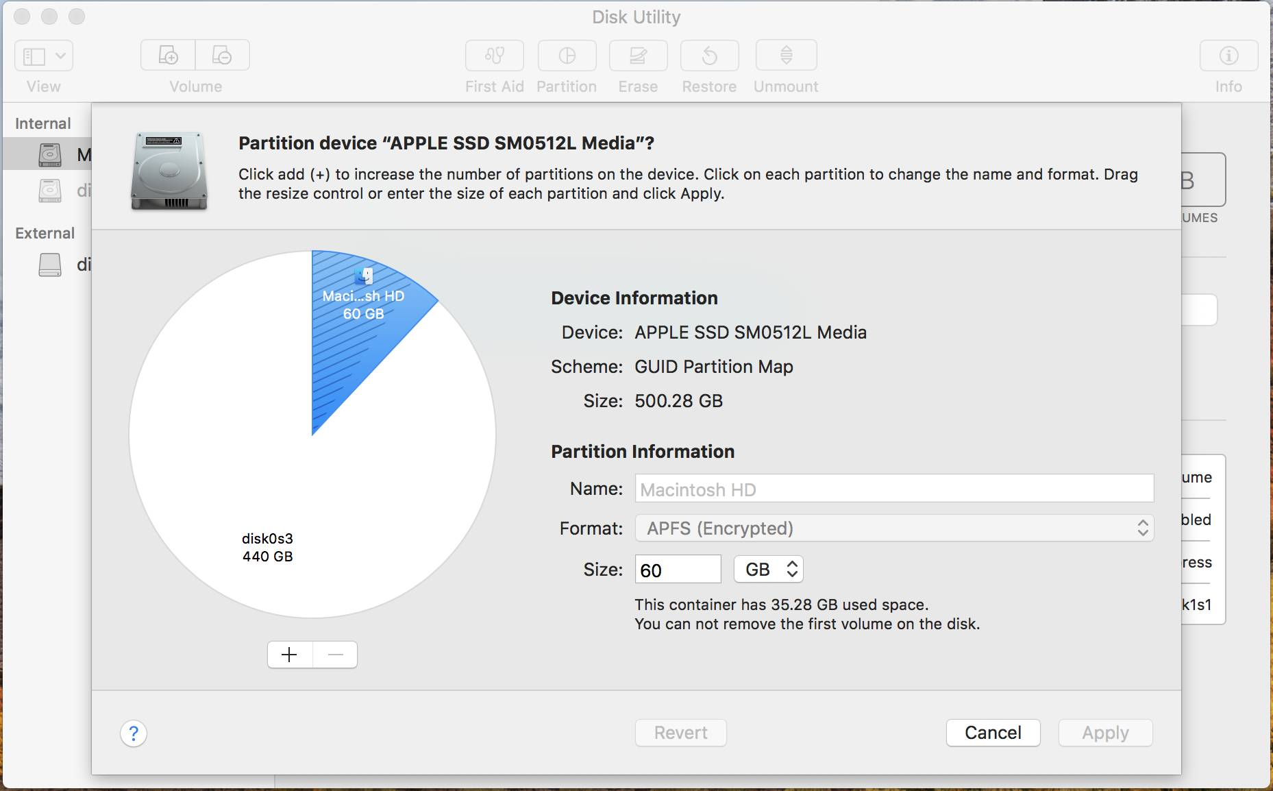 Disk Utility Partition Resizing