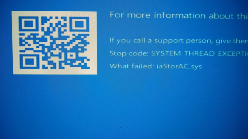 Windows 10 Bluescreen on Boot for iaStoreAC.sys Driver