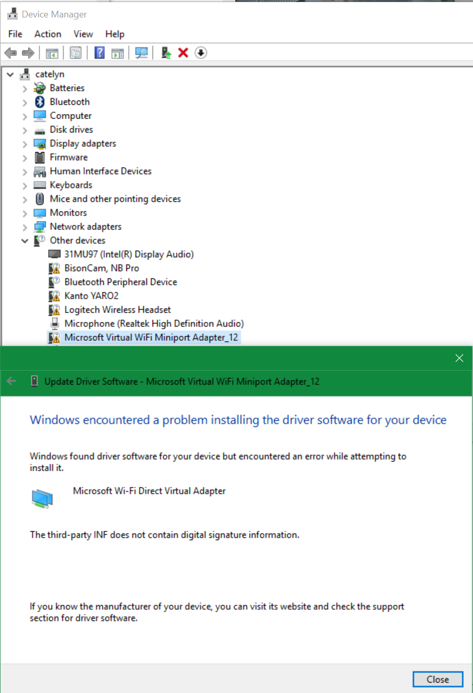 Windows 10 Update KB3176493: All My Drivers Disappeared